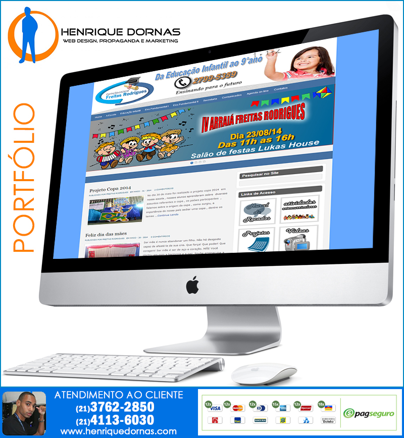 centro educacional freitas rodrigues Criação de Sites Piraí