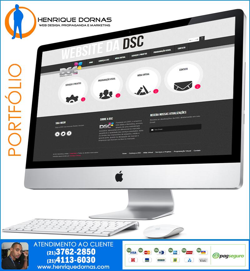 dcs publicidade Criação de Home Page   Sites com 1 Página