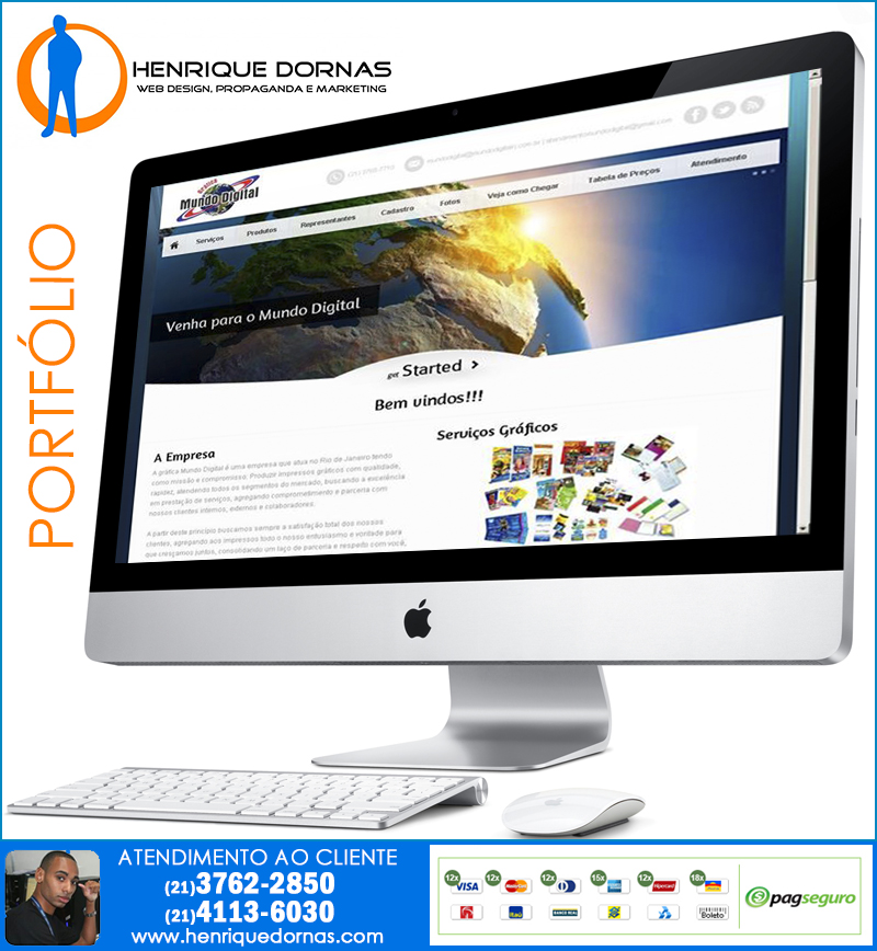 grafica mundo digital Criação de Home Page   Sites com 1 Página
