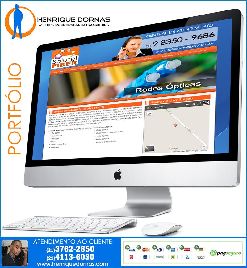 solutel fiber Criação de Home Page   Sites com 1 Página