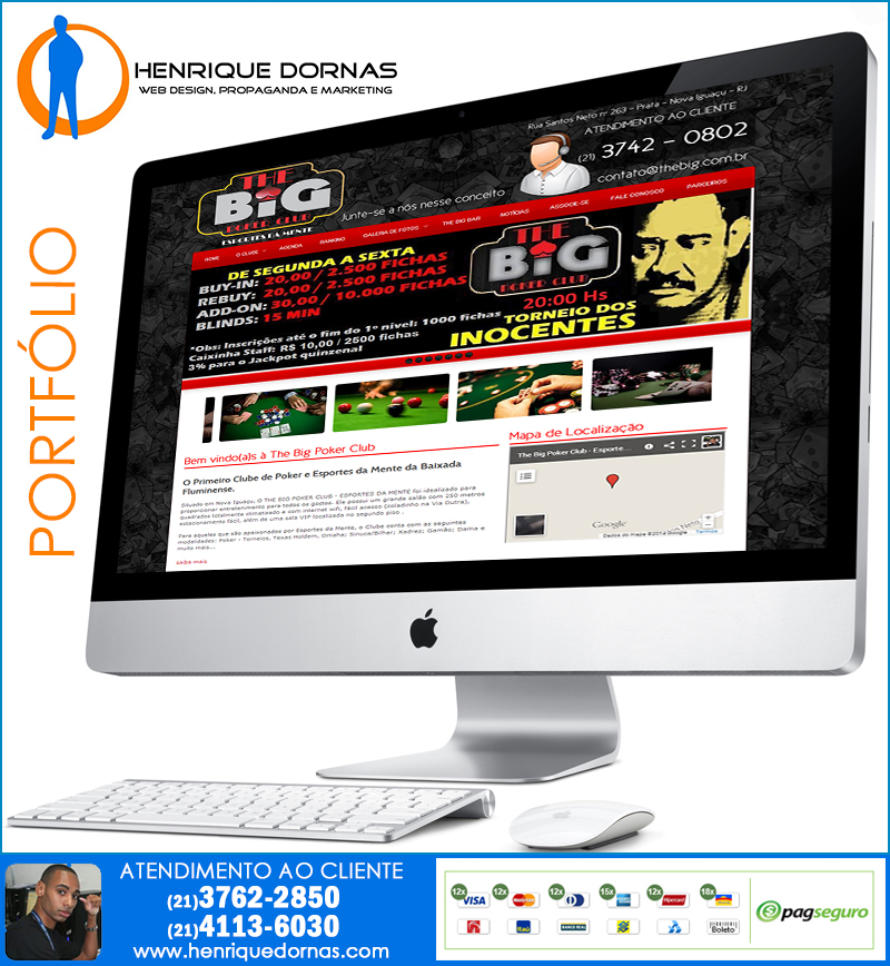 the big poker Criação de Home Page   Sites com 1 Página