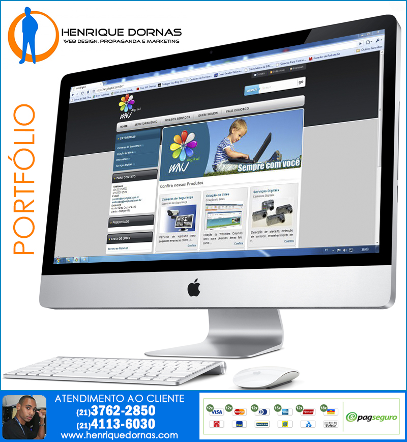 wnj digital Criação de Sites Piraí