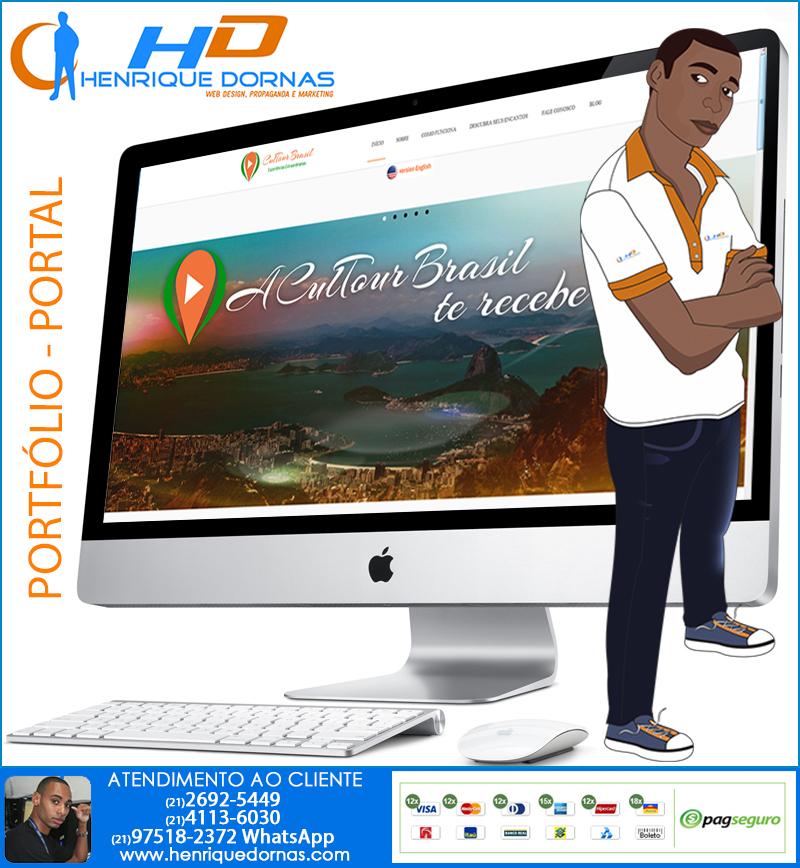 cultour brasil criacao de site turismo agencia Criação de Home Page   Sites com 1 Página