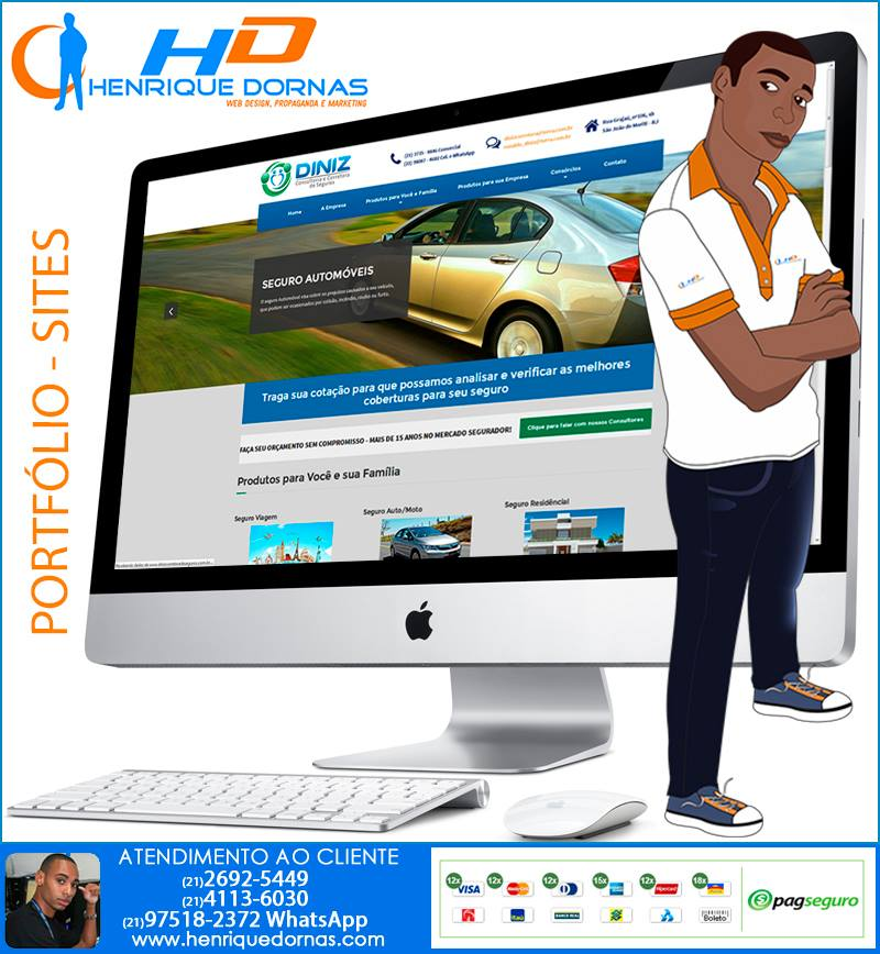diniz corretora de seguros criacao de site corretora corretor de seguros Criação de Sites em Copacabana