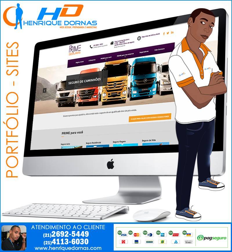 prime seguros criacao de site corretora de seguros corretor corretora seguradoras Criação de Sites em Copacabana