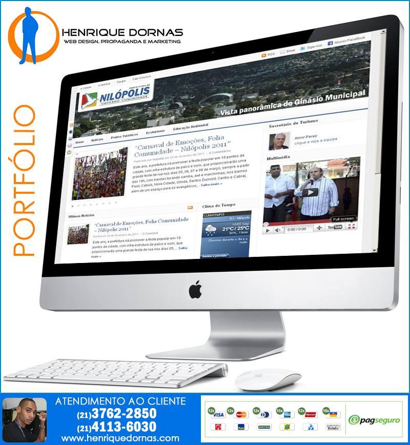 secretaria de turismo de nilopolis portal Criação de Site Tomas Coelho