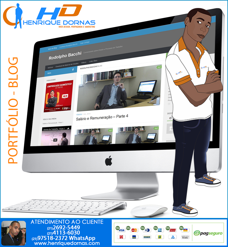 site rodolpho bacchi Criação de Sites para Corretora de Seguro