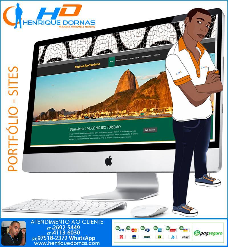 voce no rio turismo criacao de sites turismo guia hoteis passeios Criação de Home Page   Sites com 1 Página