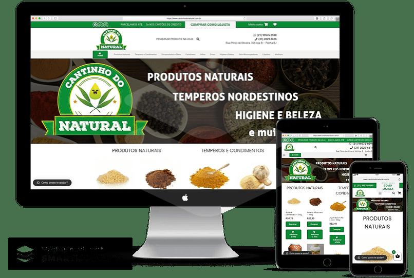 criacao de loja virtual produtos naturais 2