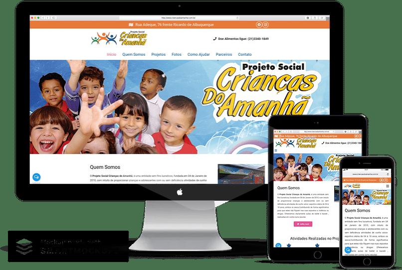 criacao de site para ong e projetos sociais