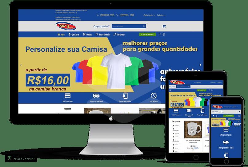 criação de sites para produtos personalizados