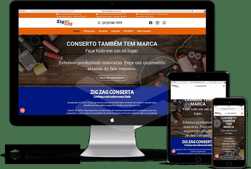 criação de sites para consertos de roupa