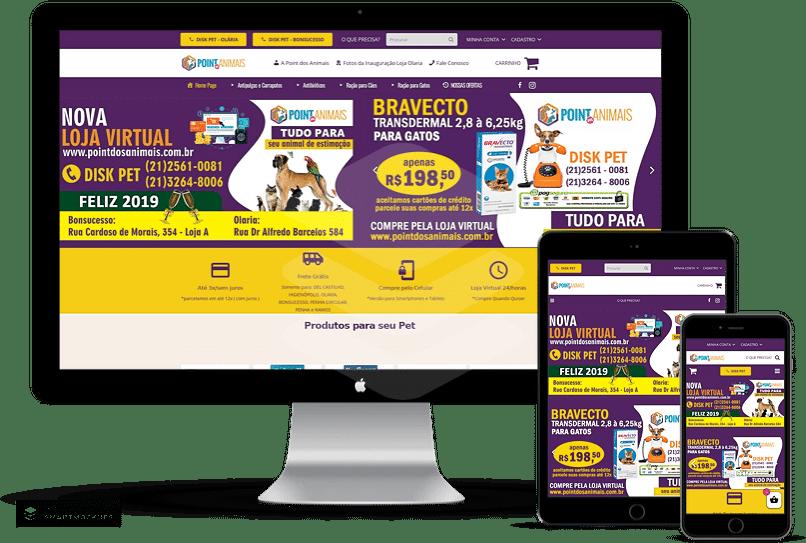 criação de sites para petshop