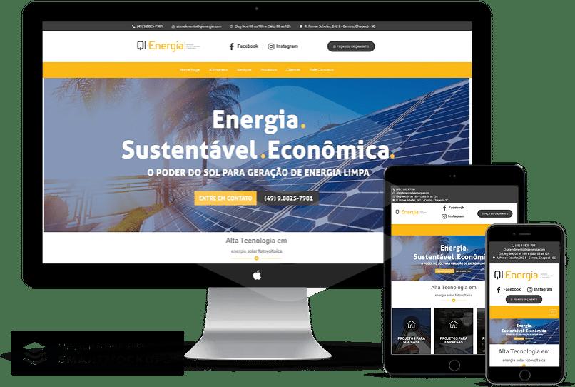 criação de sites para energia solar